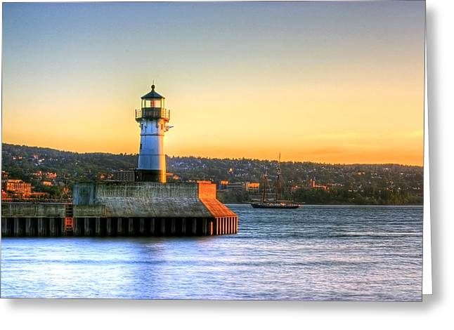 North Pier Lighthouse Greeting Card