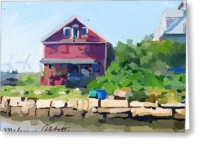 North Shore Art Association At Reed's Wharf Greeting Card