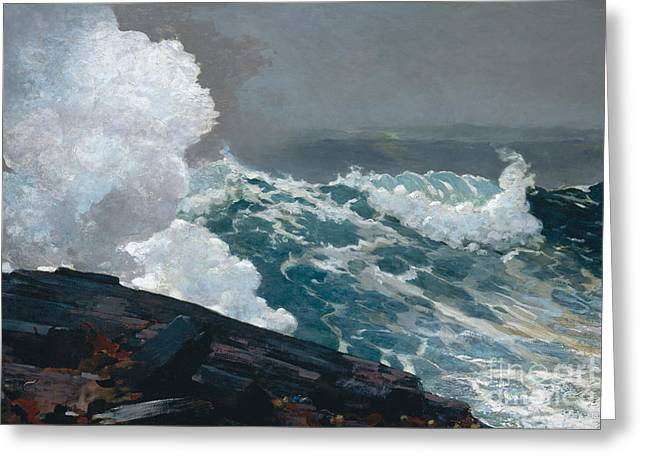Northeaster, 1895 Greeting Card by Winslow Homer