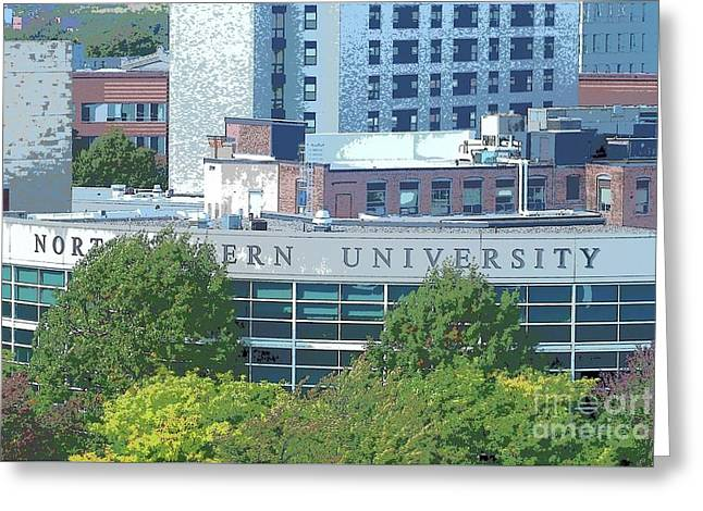 Northeastern University Greeting Card by Tom Maxwell