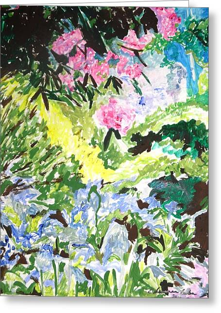 Greeting Card featuring the painting Northern Glen by Esther Newman-Cohen