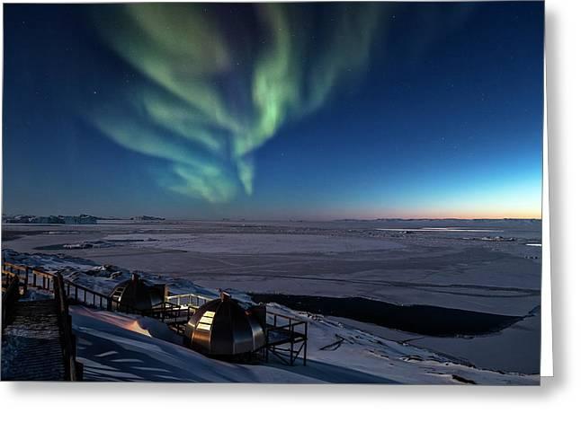 Northern Lights - Greenland Greeting Card