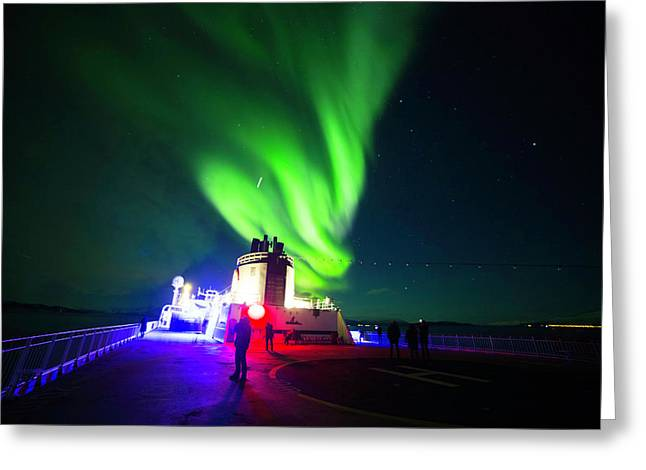 Northern Lights Greeting Card by Thomas Ashcraft
