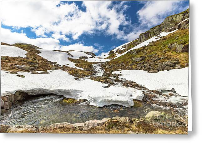 Norway Mountain Landscape Greeting Card