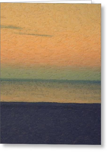 Not Quite Rothko - Breezy Twilight Greeting Card