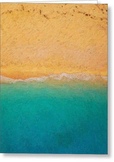 Not Quite Rothko - Surf And Sand Greeting Card