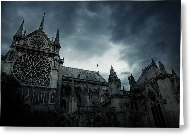Notre Dame De Paris Greeting Card by Cambion Art