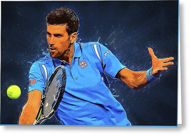 Novak Djokovic Greeting Card