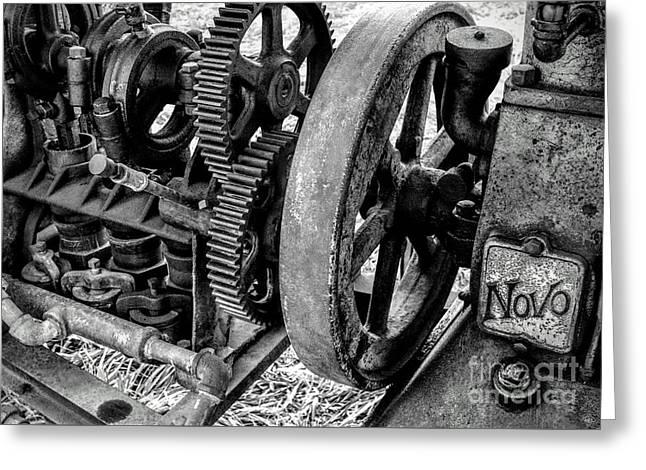 Novo Antique Gas Engine Greeting Card