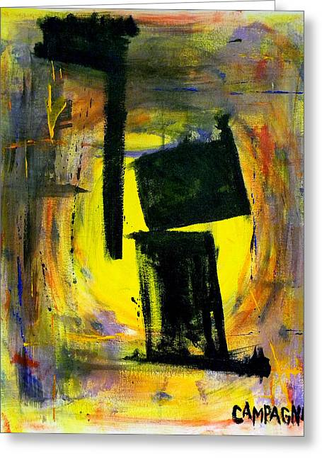 Short Brush Strokes Greeting Cards - Nowhere To Hide Greeting Card by Teddy Campagna