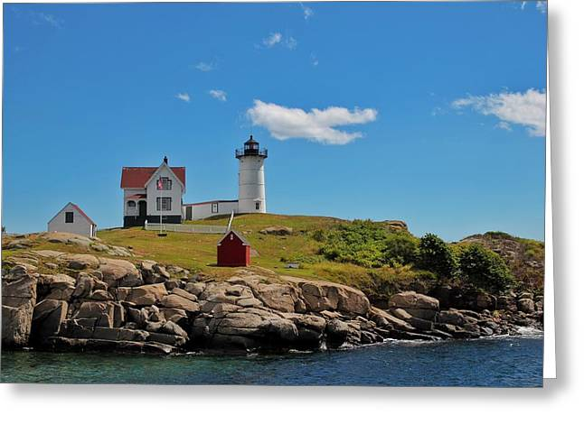 Nubble Lighthouse Greeting Card by Luisa Azzolini