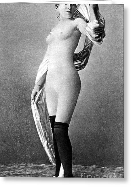 Nude Posing, C1888 Greeting Card by Granger