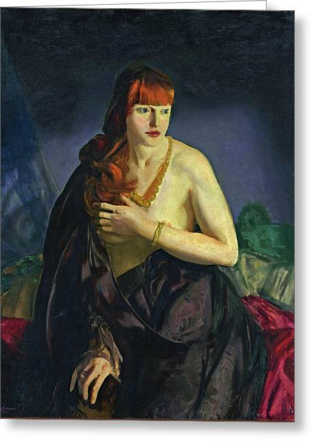 Nude With Red Hair Greeting Card by George Bellows