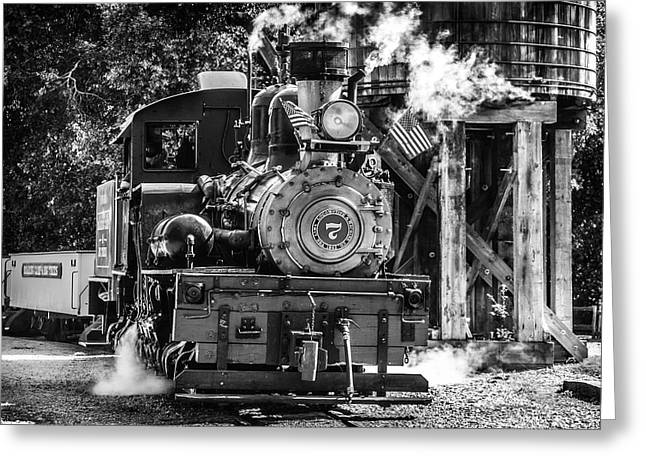 Number Seven Old Train Greeting Card by Garry Gay