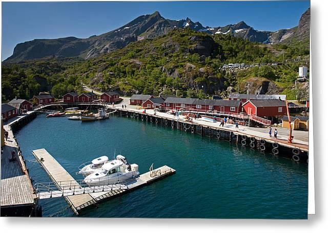 Nusfjord Fishing Village Greeting Card