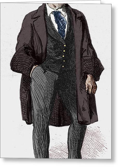 Anti Greeting Cards - Ny Gangs: Bowery Boy, 1857 Greeting Card by Granger