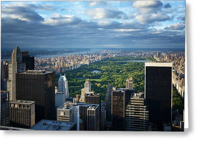 Papiorek Greeting Cards - NYC Central Park Greeting Card by Nina Papiorek