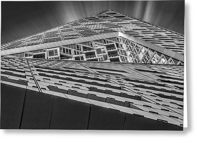 Greeting Card featuring the photograph Nyc West 57 St Pyramid by Susan Candelario