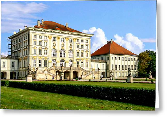 Nymphenburg Palace Greeting Card by Anthony Dezenzio