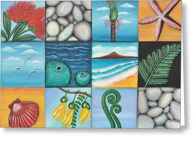 Nz Treasures Greeting Card by Astrid Rosemergy