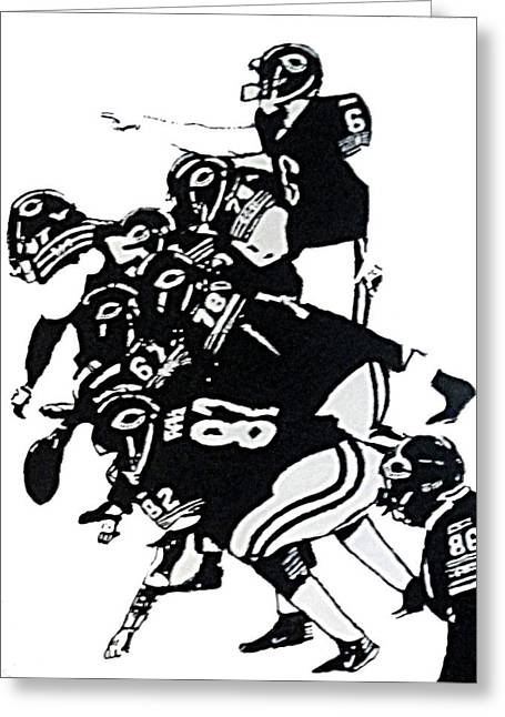 O-line Greeting Card by Matthew Formeller