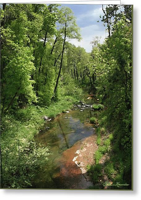 Oak Creek Greeting Card by Ellen Henneke