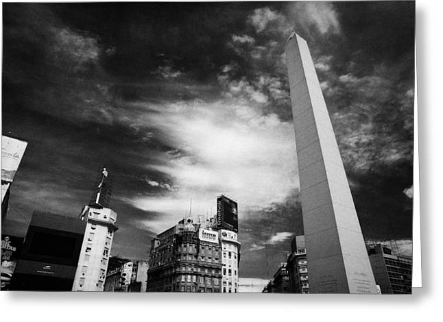 Ciudad Greeting Cards - Obelisco Obelisk In Plaza De La Republica Capital Federal Buenos Aires Republic Of Argentina Greeting Card by Joe Fox