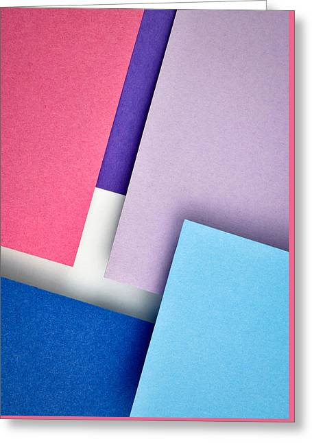 Obliquely Stacked Colored Paper Greeting Card by Jozef Jankola