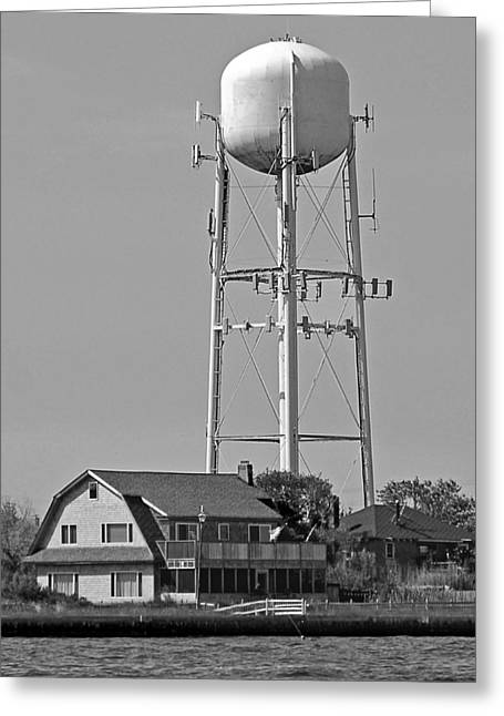 Ocean Beach Water Tower Greeting Card