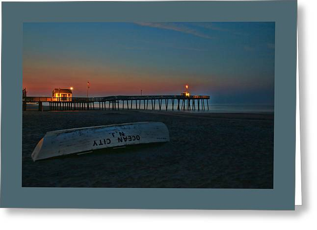 Ocean City  N J Sunrise Greeting Card