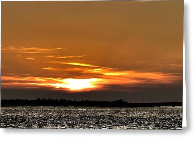 Ocean City New Jersey Sunset Greeting Card by Kevin  Sherf