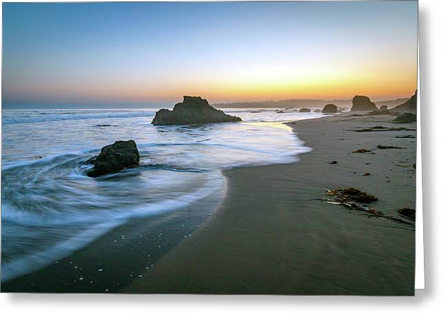 Ocean Seascape Sunset Greeting Card