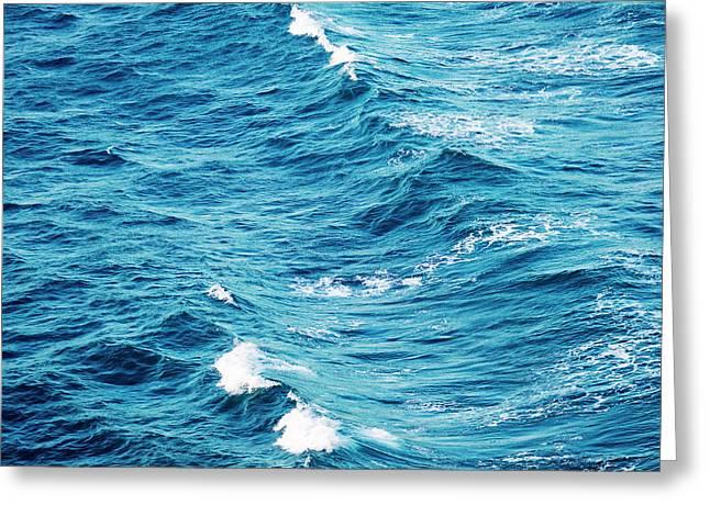 Ocean Waves Greeting Card by Tim Hester
