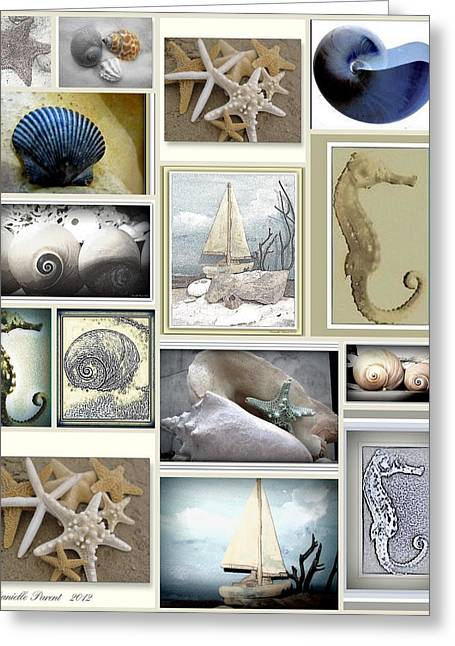 Beach Theme Decorating Greeting Cards - Ocean Wisper Greeting Card by Danielle  Parent