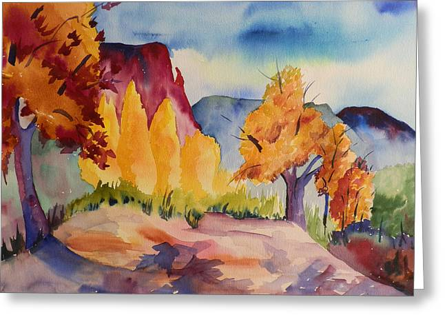 October At Ghost Ranch Greeting Card