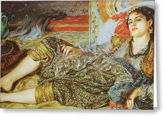 Odalisque   1870 Greeting Card