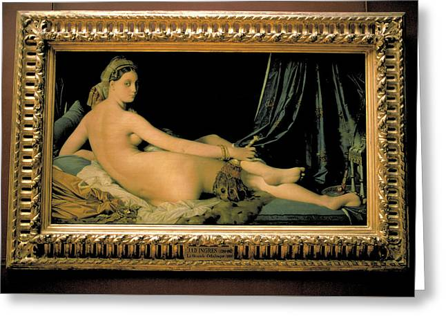 Odalisque By Ingre At Louvre Greeting Card by Carl Purcell