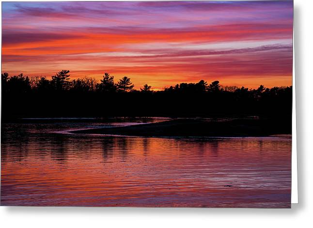 Odiorne Point Sunset Greeting Card