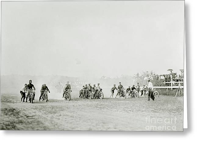 Off To The Races Greeting Card by Jon Neidert