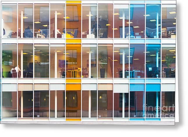 Office Windows Greeting Card