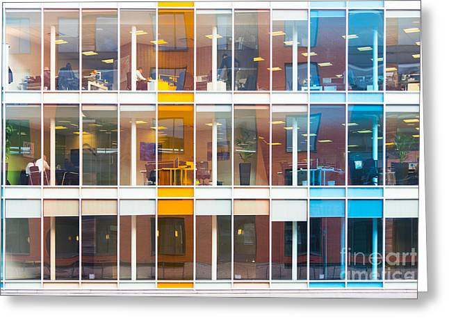 Office Windows Greeting Card