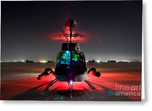 Oh-58d Kiowa Pilots Run Greeting Card