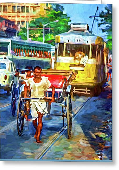 Oh Calcutta - Paint Greeting Card
