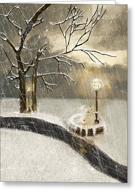 Oh Let It Snow Let It Snow Greeting Card by Angela A Stanton