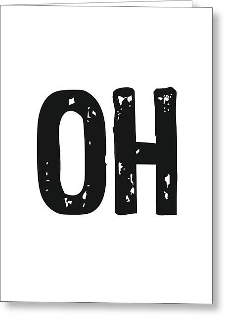 Oh - Minimal Wall Decor Print Greeting Card