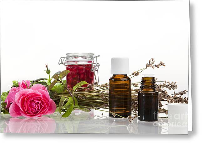 Oil Mixture Of Essential Oils Greeting Card