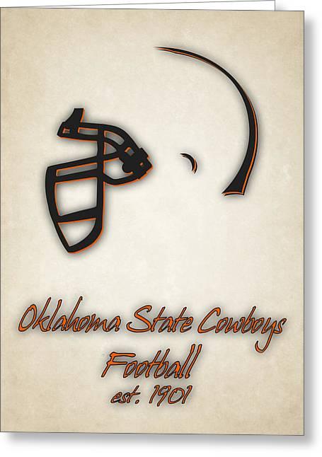 Oklahoma State Cowboys Greeting Card by Joe Hamilton