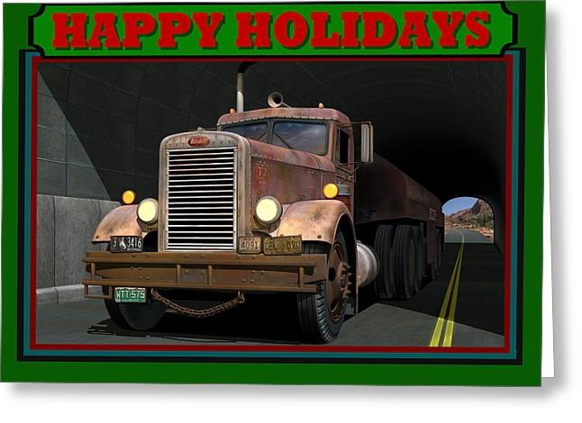 Ol' Pete Happy Holidays Greeting Card by Stuart Swartz