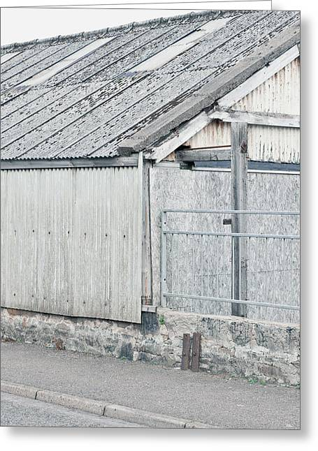 Old Barn Greeting Card by Tom Gowanlock