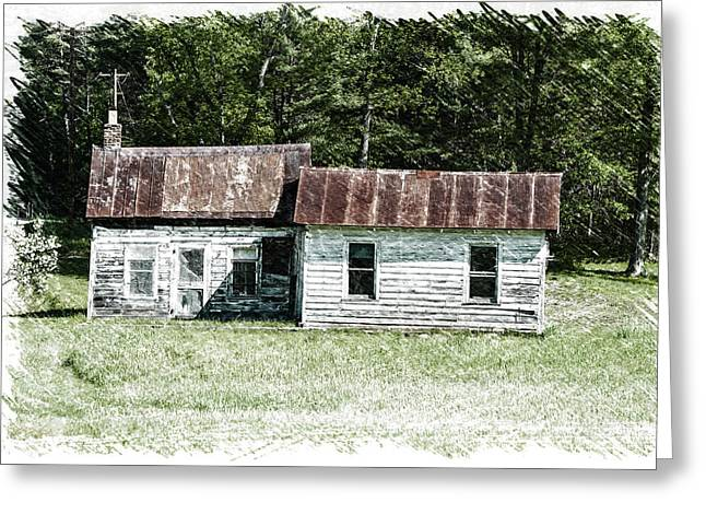 Old Barn Greeting Card by William Reade